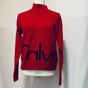 NWT Calvin Klein Deep Red Sweater. Sz M